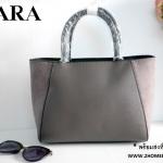 กระเป๋าถือ ZARA TOTE BAG DETAILS หนัง Saffiano สุดหรู