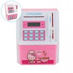 KA057 กระปุกออมสินตู้เซฟ ATM ดูดแบงค์ มี ATM เท่าบัตรของจริง ลาย คิตตี้