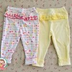 ไซส์ 24 เดือน กางเกงขายาวเด็ก เนื้อผ้าฝ้าย นิ่มมากๆ แพ็ค 2 ตัว - ลายจุด