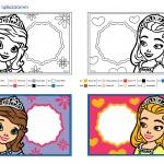 DI046-DR DIYงานประดิษฐ์ ของเล่นเสริมพัฒนาการ ชุดประดิษฐ์โรยทรายสีกรอบรูปโซเฟีย (Sofia Princess Frame Sand Art) DIY-SAFSF