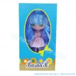 BR003 ตุ๊กตา บลายธ์ Blythe คละแบบ 1 เซ็ท ผมสีฟ้า