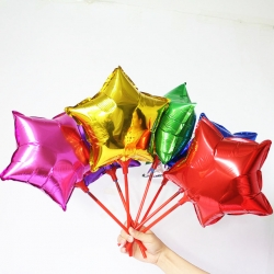 ลูกโป่งฟอยล์ดาว ขนาด 10 นิ้ว Star Foil Balloons