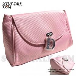 Dior pink cosmetic bag