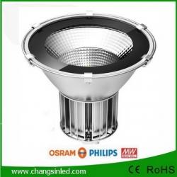 โคมไฟไฮเบย์ LED Industrial Light+เลนส์กระจก 100W