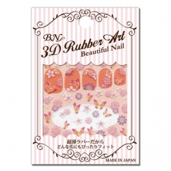 BUR-11 3D Rubber Art Beautiful Nail สติกเกอร์ติดเล็บลายนูน