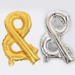 ตัวอักษร& (สีเงิน ทองขนาด 16นิ้ว)