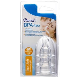 Pureen จุกนมซิลิคอน BPA-Free ไซส์ M