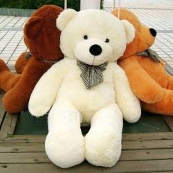 ตุ๊กตาหมี สีขาว ขนนุ่ม ขนาด 1 เมตร ส่งฟรี