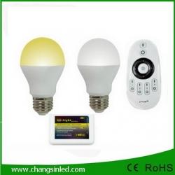 หลอดไฟ LED ไร้สาย Wifi Bulb 6Wx2 เปลี่ยนเฉดแสงโทนขาวเป็นโทนวอร์มไวท์+Wifi Remote+ Wifi Controller