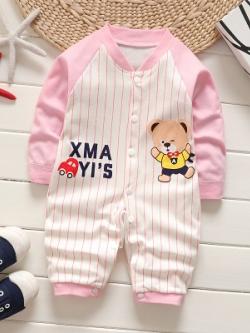 ไซส์ 0-3,3-6,6-9,9-12 เดือน ชุดหมีเด็กขายาว ลายแฟชั่นน่ารัก