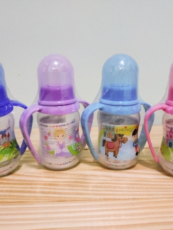โมเดิร์นแคร์ - ขวดนมเด็ก 3-6 เดือนขึ้นไป ขนาด 4 ออนซ์ มีที่ฝึกจับขวด BPA Free แพ็ค 4 ขวด