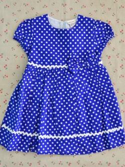 ไซส์ 4 ปี Laura Ashley ชุดกระโปรงเด็กผู้หญิง - สีน้ำเงิน