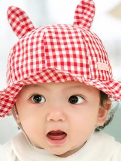ไซส์ 6-18 เดือน หมวกเด็กผู้หญิงฤดูร้อน - สีแดง