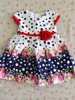 ไซส์ 3-6 เดือน Laura Ashley ชุดกระโปรงเด็กผู้หญิง