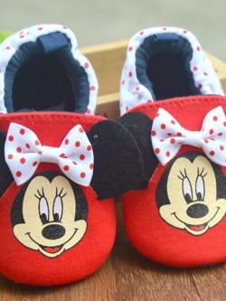 [ไซส์ 12 ซม.] รองเท้าหัดเด็กแบบผ้านุ่ม ใส่สบาย มีกันลื่น