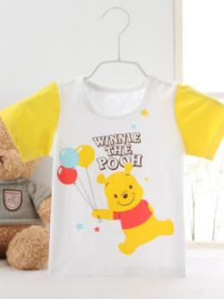 ไซส์ 3-6,6-9,9-12,12-18 เดือน เสื้อยืดเด็กผ้านิ่มเหมาะสำหรับหน้าร้อน ลายหมีพู