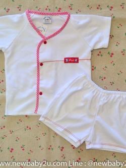 ไซส์ 3-6 เดือน Baby Charm ชุดนอนเด็กเนื้อผ้านิ่มใส่สบาย สีแดง