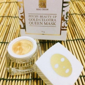 Pitchy Beauty Up Gold Celotra Queen Mask. มาร์คหน้าทองคำ