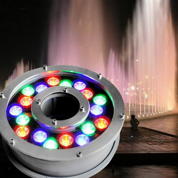 โคมไฟ LED ประดับใต้น้ำพุ RGB