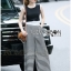 Lady Celina Minimal Chic Cropped Top and Striped Pants Set L259-7918 thumbnail 10