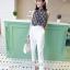 เสื้อชีฟองแขนกุด + กางเกงขายาวสีขาว thumbnail 1