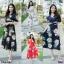 Maxi Dress แมกซี่เดรสยาว คอวี งานพิมพ์ลายดอกดอกไม้ thumbnail 1