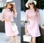 Lauren Holiday Look Guipure Lace Dress in Pink L248-7514 thumbnail 1