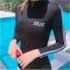 657 ชุดว่ายน้ำวันพีชแขนยาว สีดำแต่งแถบขาว ซิปหน้า thumbnail 2