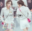 Lady Grace Minimal Chic Colourful Embroidered White Shirt and Shorts Set L257-85C07 thumbnail 1