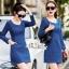 Slim thin long-sleeved dress denim skirt denim by Aris Code A243-79C05 thumbnail 10