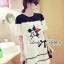 DR-LR-141 Lady Minnie Playful Mickey Print Dress in Black and White thumbnail 12