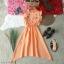 Dress เดรสคอกลมติดกระดุมหลัง 1 เม็ด แขนกุดระบาย thumbnail 7