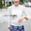 Lady Becca Smart Elegant High-Neck White Lace Blouse L254-69C02 thumbnail 2