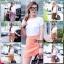 กระโปรงกางเกงผ้าลายไทย พร้อมเสื้อยืดสีขาว thumbnail 1
