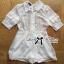 Lady Jenny Star Embroidered Silk Chiffon Collar Jumpsuit L153-79C04 thumbnail 6