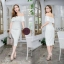 Lace dress งานผ้าลูกไม้สวยๆค่ะ ผ้าหนาเนื้อดีมีซับใน งานปาดไหล่อกระบาย thumbnail 2