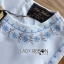 Lady Janet Blue and White Embroidered Cropped Top and High-Waist Shorts Set L272-7902 thumbnail 15