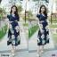 Maxi Dress แมกซี่เดรสยาว คอวี งานพิมพ์ลายดอกดอกไม้ thumbnail 4