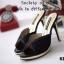 รองเท้าส้นเข็ม แบบหน้าสวม ดีไซน์หรู ตัดขอบกากเพชร thumbnail 2
