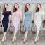Lace dress งานผ้าลูกไม้สวยๆค่ะ ผ้าหนาเนื้อดีมีซับใน งานปาดไหล่อกระบาย thumbnail 1