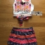 Lady Diana Vivid Tribal Embroidered Cropped Top and Printed Shorts Set L274-7515 thumbnail 13