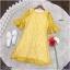 Dress เดรสผ้าลูกไม้ทรงสวยใส่เข้ารูปงานแขนระดับศอกปลายระฆัง thumbnail 5
