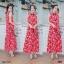 Maxi Dress แม็กซี่เดรสแขนกุด คอจีนสไตล์กี่ดพ้า thumbnail 2