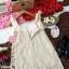 Dress เดรสสั้นลูกไม้สายเดี่ยวผูกโบว์ thumbnail 4