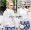 Lady Becca Smart Elegant High-Neck White Lace Blouse L254-69C02 thumbnail 1