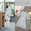 เดรสลูกไม้ คอจีน งานลูกไม้แขนระฆัง ต่อระบายผ้าแก้ว1 thumbnail 6