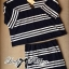 Lady Rebecca Minimal Chic Striped Cotton Jersey Set L129-69C06 thumbnail 5