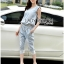 Lady Blaire Sporty Chic Embellished Zipper Denim Jumpsuit L201-85C10 thumbnail 4
