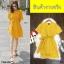 Jumpsuit ชุดจั้มสูท #จั้มสูทสีเหลือง งานผ้าคอมพ์เนื้อดี thumbnail 3