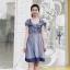 Dress เดรสผ้าชีฟองลายริ้วใหญ่ แขนเปิดไหล่ thumbnail 8